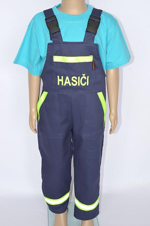 Dětské softshellové hasičské kalhoty s laclem